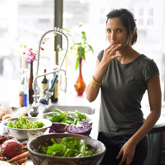 Padma Lakshmi's Secret to Balancing Work Sacrifices with Success - Hungry Crowd on Food & Wine