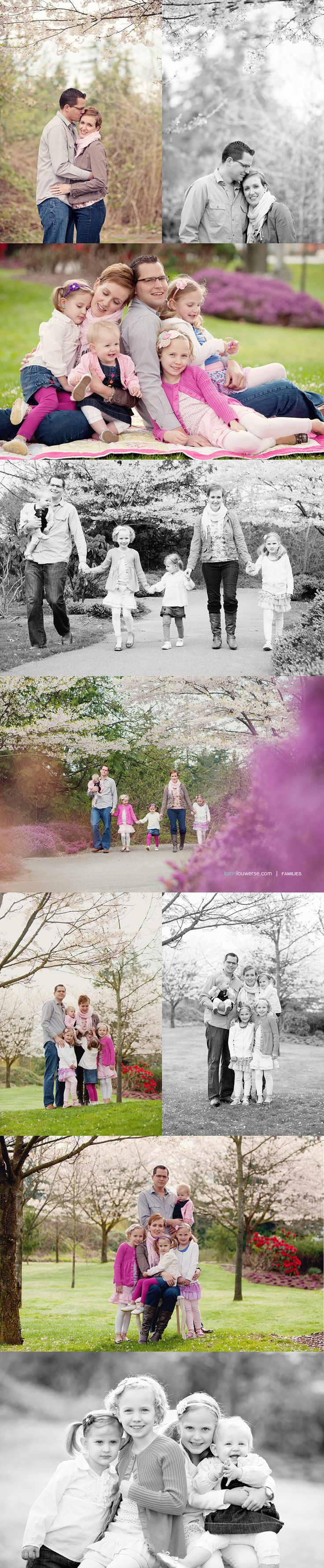 Family Portrait Idea~  Love the pop of pink