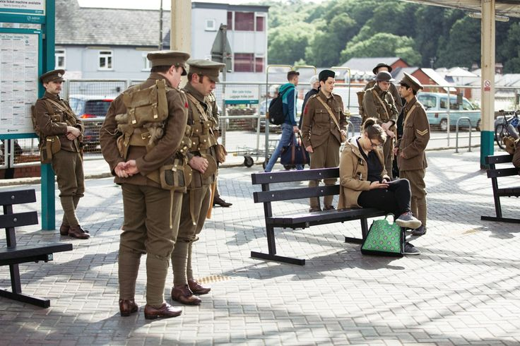 Soldiers in Bangor © Iolo Pendri, with permission from 14-18 Now