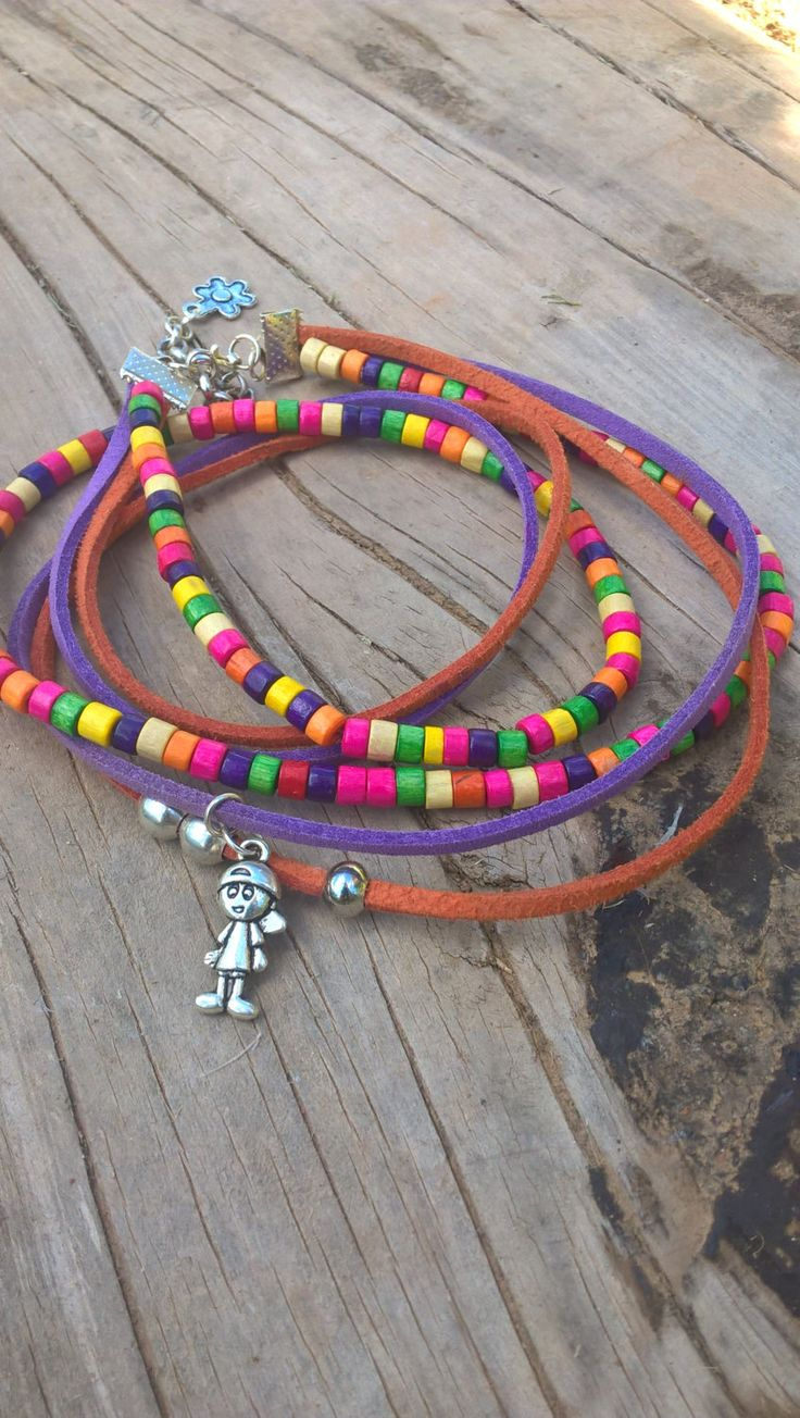 Colorful beaded multistand necklace, Bohemian Necklace, Charm Necklace by AhyokaByBernice on Etsy