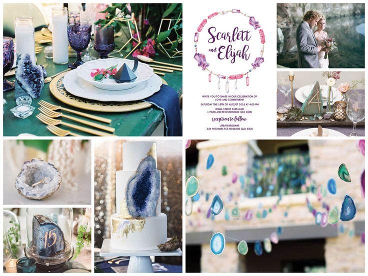 Ideas for your Gemstone Quartz Crystal wedding: https://www.etsy.com/au/listing/400201993/gemstone-quartz-crystal-boho-printable?ref=listing-shop-header-1