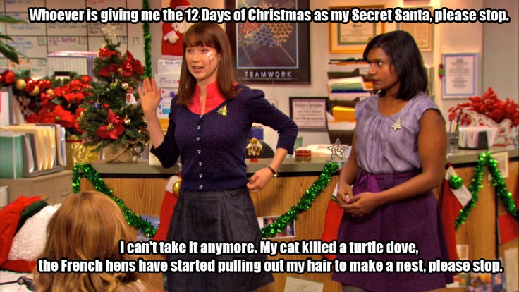 1st Day Of Christmas Song >> 12 Days of Christmas / The Office / #TheOffice | That's What They Said... | Pinterest | Dunder ...