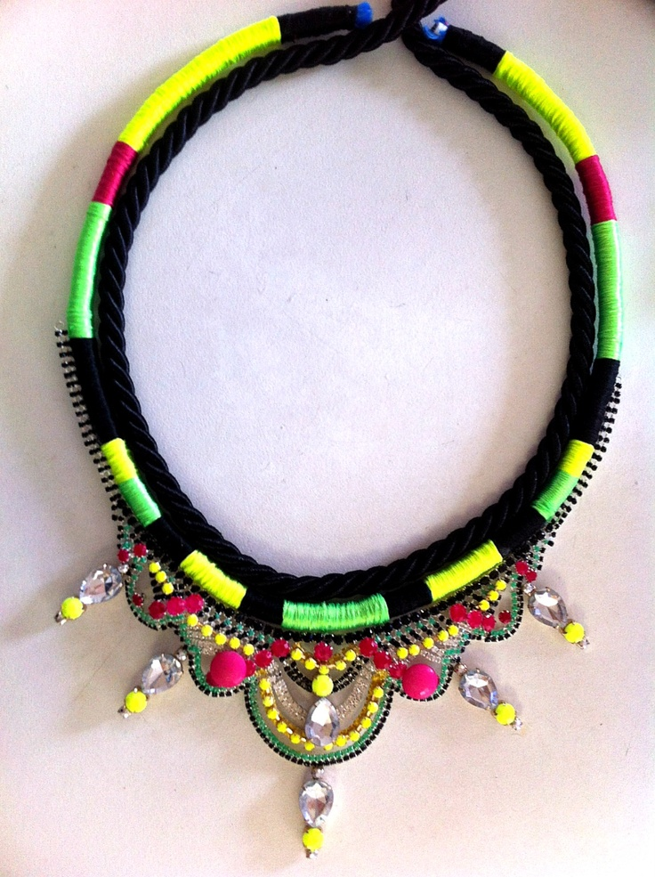 New handmade necklace by Madd Lola for upcoming collection 'Urban Happiness' launching Feb 8 2013