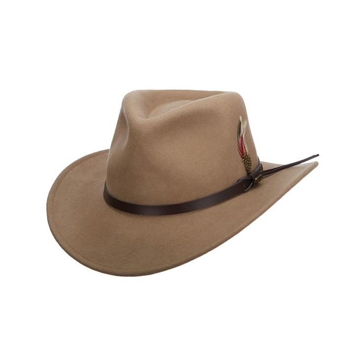 Scala brings the adventure to you with its water-repellent wool felt men's outback hat. Your next weekend hike or week-long camping trip is sure to offer plenty of opportunity for you to show off the new fashionista frontiersman in you.