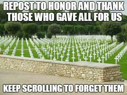 My brothers and sisters before me I thank you for giving your lives so other could live theirs xxx