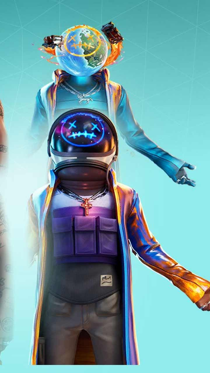 Astro Jack Fortnite Skin Wallpaper Hd Phone Backgrounds Art Poster For Iphone Android Home Screen In 2020 Blue Wallpaper Iphone Rapper Art Astro