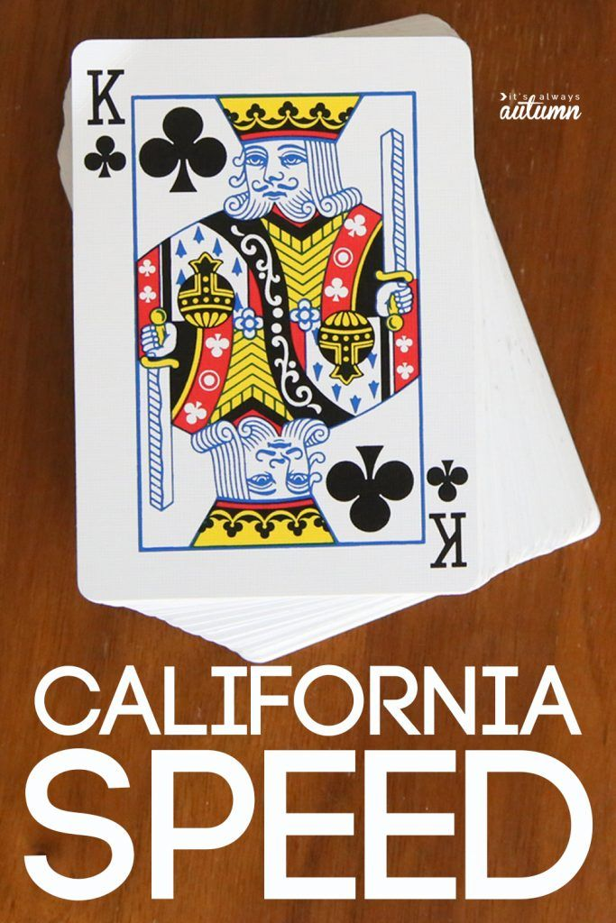 How To Play California Speed Fun Card Games Card Games Card