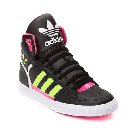 Shop for Womens adidas Extaball Athletic Shoe, Black Pink ...