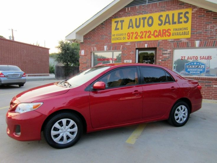 Auto Dealerships For Sale In Texas: 2011 Toyota Corolla $9,995