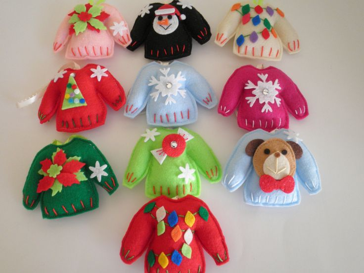 Cutest Ever Handmade Felt Ugly Christmas Sweater Ornaments - Choose Any Two For One Low Price! by favorboxboutique on Etsy https://www.etsy.com/listing/247161788/cutest-ever-handmade-felt-ugly-christmas
