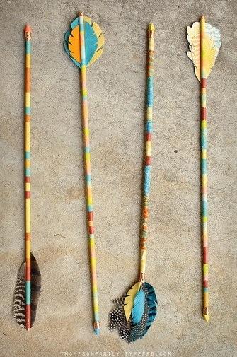 Pencil & Feather Arrows