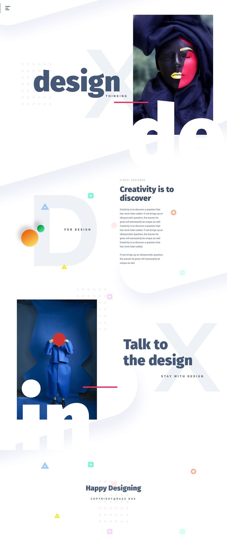 D E S I G N - Creativity is to discover #webdesign #inspiration #landingpage