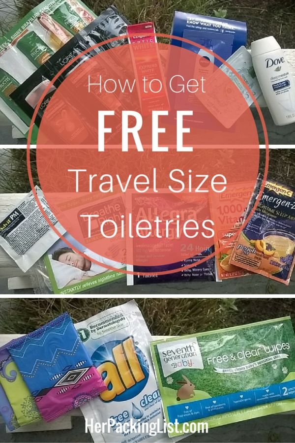 Scoring free travel size toiletries is a great way to save money and travel light. Abby shows us how she does it by using free samples for travel.