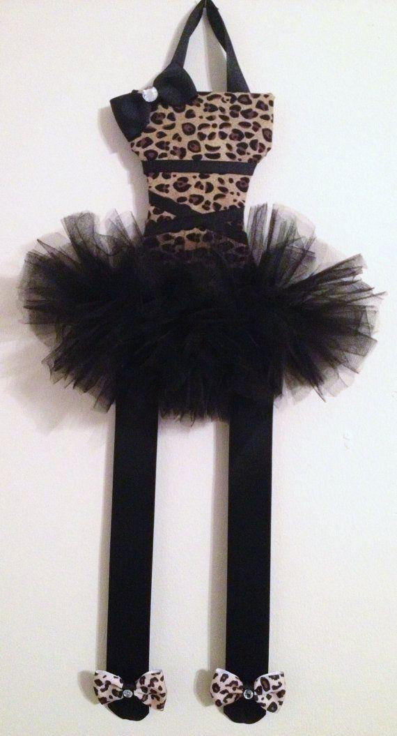Leopard Print Ballerina Bow Holder by BowsBySaloure on Etsy, $14.95