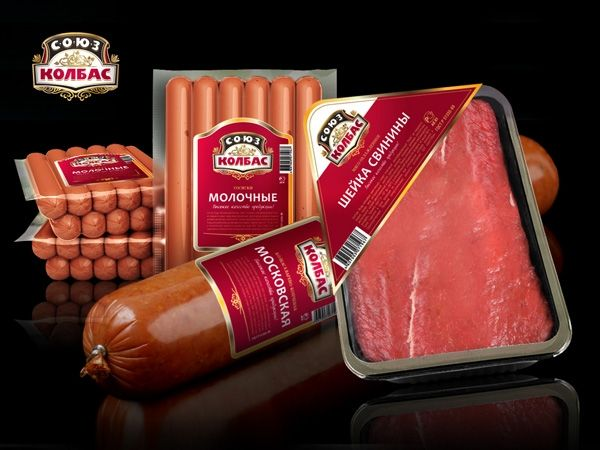 Creative meat and sausage packaging and label design