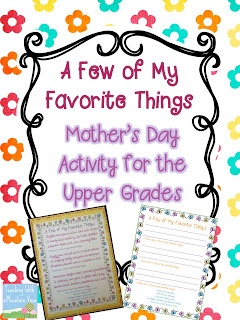 Mother's Day Freebie for upper grades. Re-write a song/poem during your literacy block and end up with a sweet gift for mom!