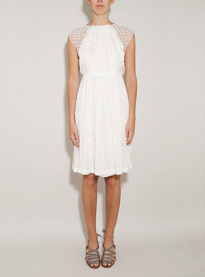 Ply Chiffon Dot Dress. Rachel Comey.
