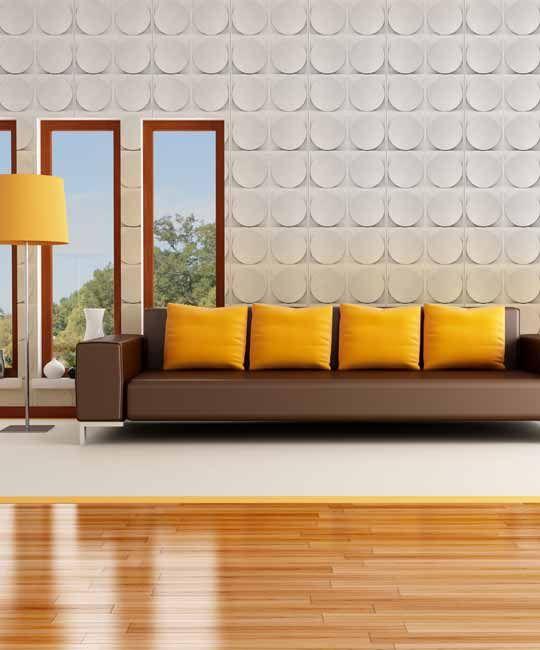 Peel & Stick Plastic Wall Panel - Circle Design. 12 Panels. 32sf
