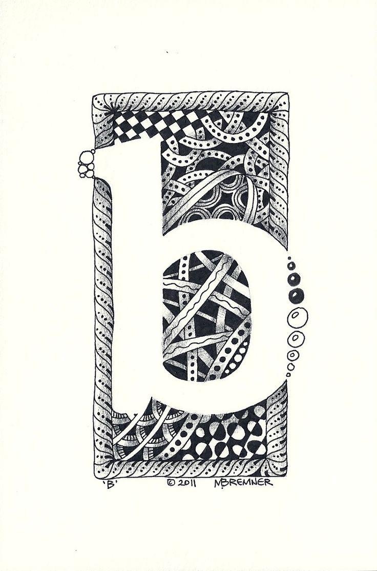 Mr. MintArt: Zentangle Letters Lesson