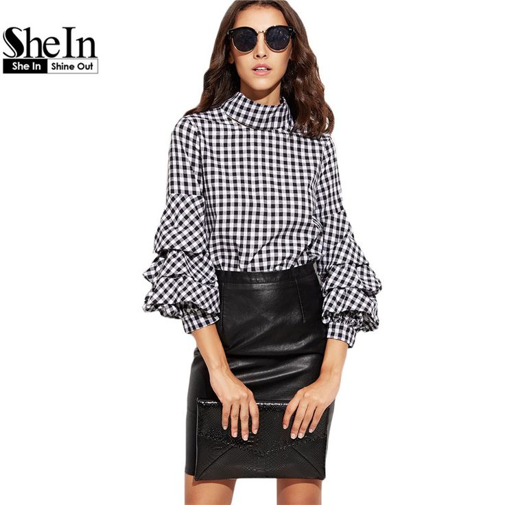 Cheap blouse tie, Buy Quality blouse blouses directly from China blouse rose Suppliers:    SheIn Women Summer Sexy Tops Ladies Plain Black Long Sleeve Round Neck Hollow Zipper Lace See-through Crop BlouseUSD
