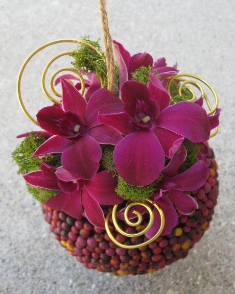 Telón de fondo de flores de papel, Velas flotantes y Centros de mesa