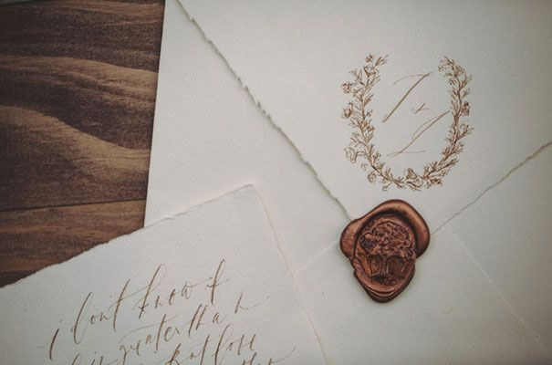 FORAGE AND FERN WORKSHOP // #wedding #inspiration #calligraphy #invitations #savethedate #waxseal #paper #invite #bronze