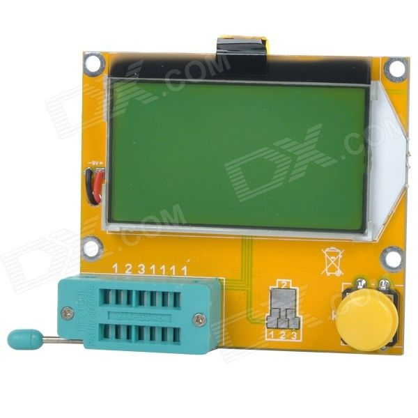 LCR-T4 Meter Tester for Capacitance ESR Inductance Resistor NPN PNP Mosfet M328 - Yellow+Multicolor. The tester is stable and easy to use which can automatically read out the accurate data, and is suitable for electronic enthusiasts, electronic developers, designers, and electronic repair. It can measure all kinds of resistance, capacitance, inductance, two tubes,transistors, SCR, MOS field effect tube; can determine the device type, polar, pin output HFE,threshold voltage, the junction…