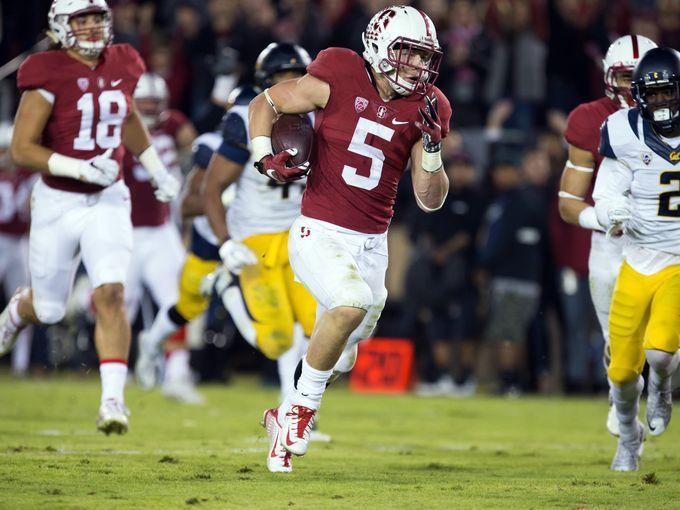 Stanford Cardinal running back Christian McCaffrey