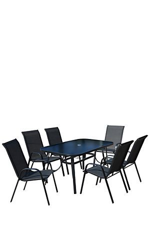"""This simple and functional patio set will add a touch of charm to a veranda or patio setting.<div class=""""pdpDescContent""""><ul><li> Metal</li><li> Assembly required</li></ul></div><div class=""""pdpDescContent""""><BR /><b class=""""pdpDesc"""">Dimensions:</b><BR />L55.5xW75xH95.5 cm<BR /><BR /><div><span class=""""pdpDescCollapsible expand"""" title=""""Expand Cleaning and Care"""">Cleaning and Care</span><div class=""""pdpDescContent"""" style=""""display:none;""""><ul><li> Do not leave outdoors for long periods of time as…"""