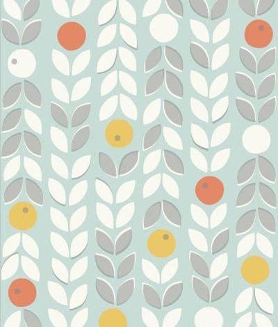 print & pattern: DESIGNERS - scandinavian pattern collection, repeat, screen print, design, pattern, colour, mid century, autumn, flowers, leaves