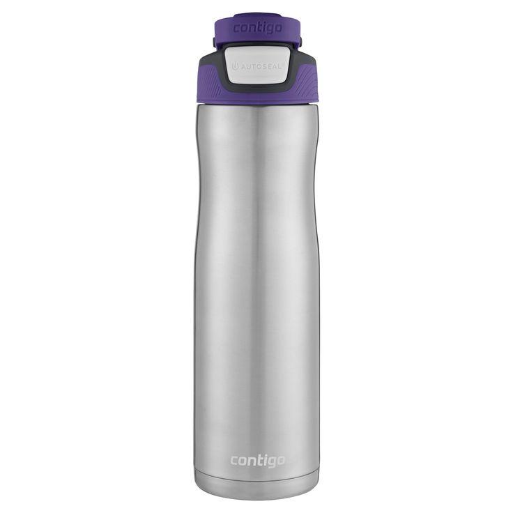 Contigo Autoseal Chill 24oz Stainless Steel Water Bottle - Grapevine, Silver/Grapevine