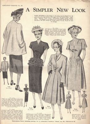 1947 or 1948 Leach-Way 263 fashions