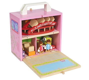 Portable Wood Doll House