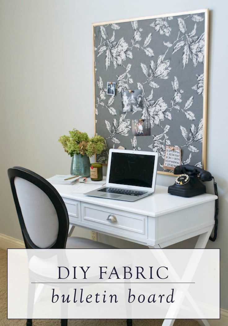 This DIY fabric bulletin board tutorial will show you how to create an easy piece of wall art or a place to organize all your ideas in your home office.