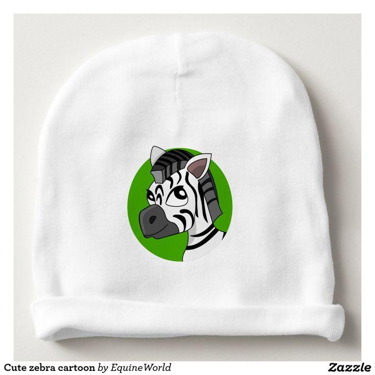 Cute zebra cartoon baby beanie