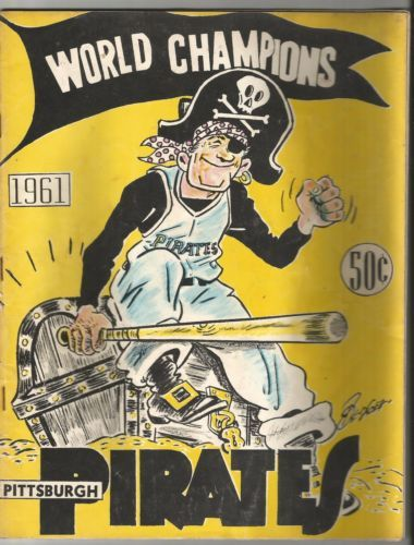 Vintage-1961-Pittsburgh-Pirates-Yearbook-Roberto-Clemente-Mazeroski