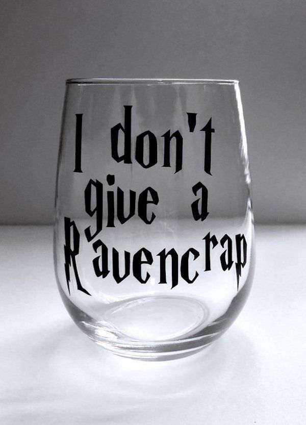 d3ba4385be8 Harry Potter Swear Word Wine Glasses Exist And They're Hufflef*cking ...