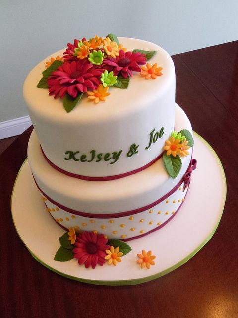 Kelsey & Joe's Rehearsal Dinner Cake