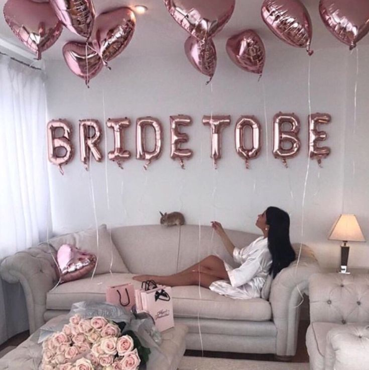 Bride To Be Rose Gold Balloon Bunting