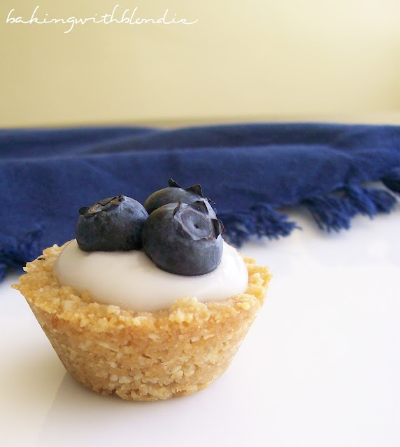 blueberry coconut custard mini tarts ... thank you baking with blondie!!