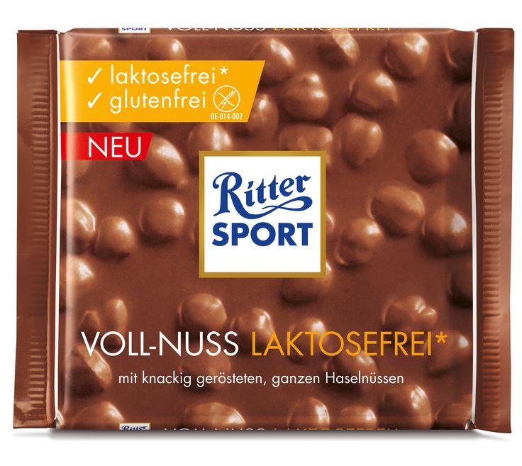 RITTER SPORT Voll-Nuss Schokolade laktosefrei und glutenfrei