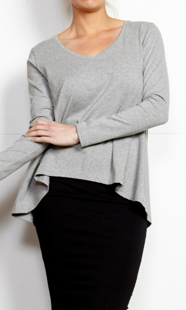 Betty Basics - Melanie Swing Top - Grey