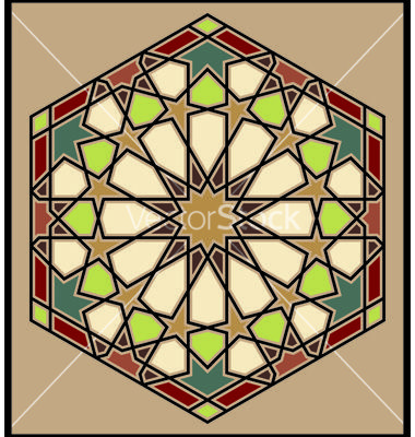 Moroccan rosette vector on+= VectorStock #morocco #moroccan #pattern #art #islamic #islamic #design #colour #colourful