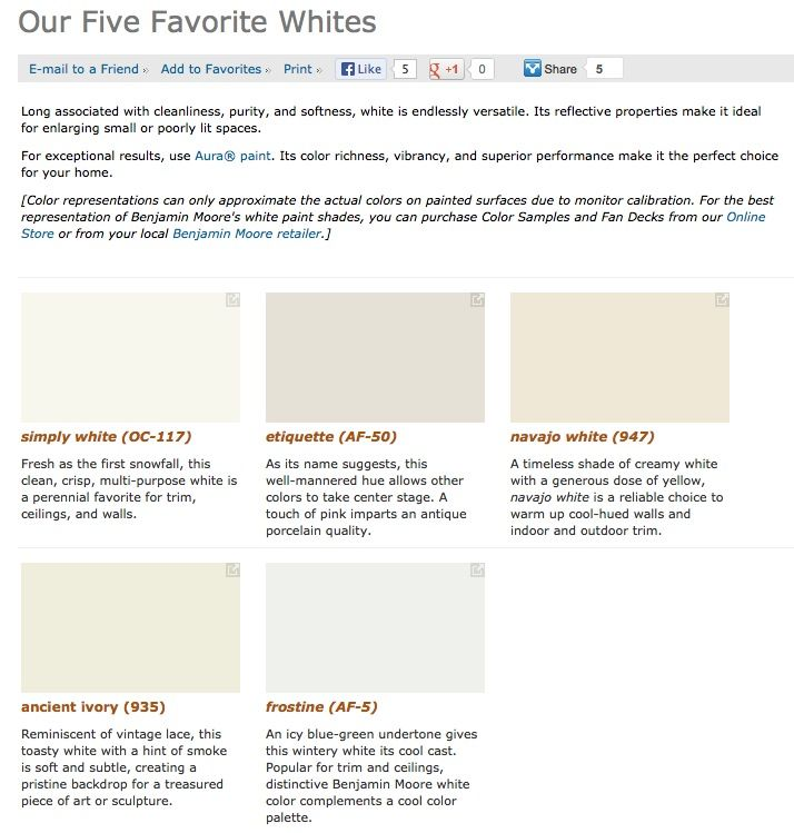 Favorite Por Best Ing Shades Of White Paint Colors From Benjamin Moore Kim S Board Pinterest Paints And Painting