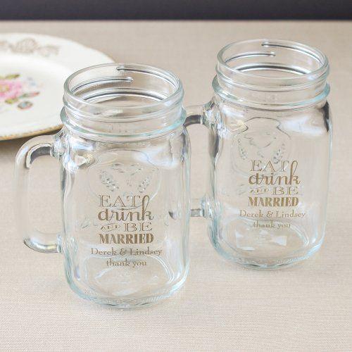Personalized Printed Mason Jar Mug by Beau-coup