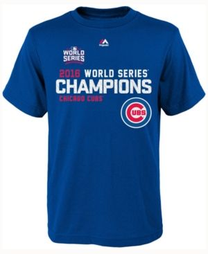 Majestic Boys' Chicago Cubs World Series Roster T-Shirt - Blue XL