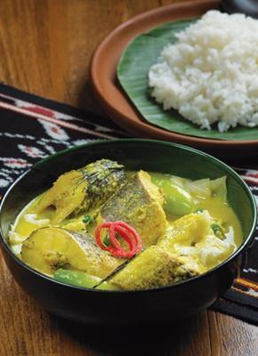 Gangan Asam Kering (Sour Soup) from Central Kalimantan (Borneo).