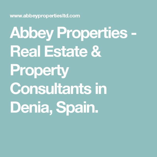 Abbey Properties - Real Estate & Property Consultants in Denia, Spain.