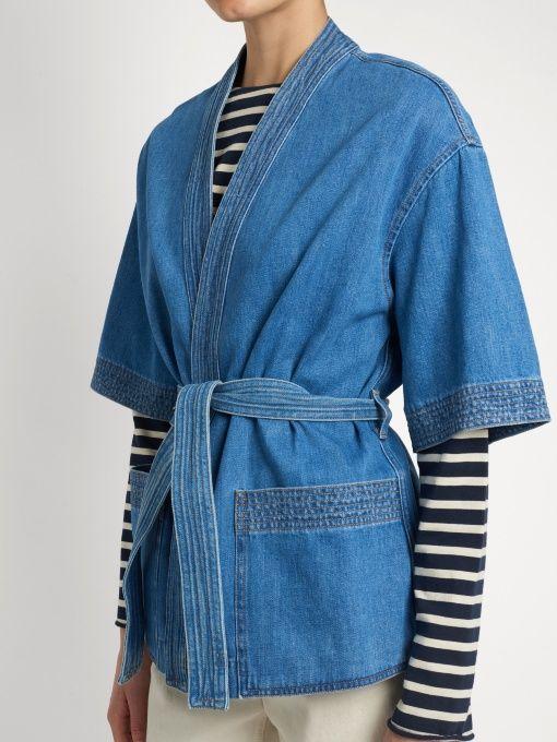 M.i.h Jeans Veste en denim style kimono Finn