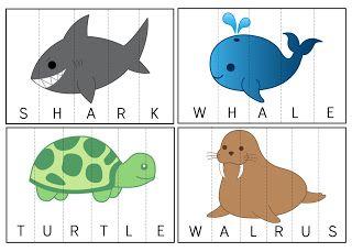 sea, ocean, water, underwater, animals, English, jigsaw, puzzle, vocabulary, classroom, game